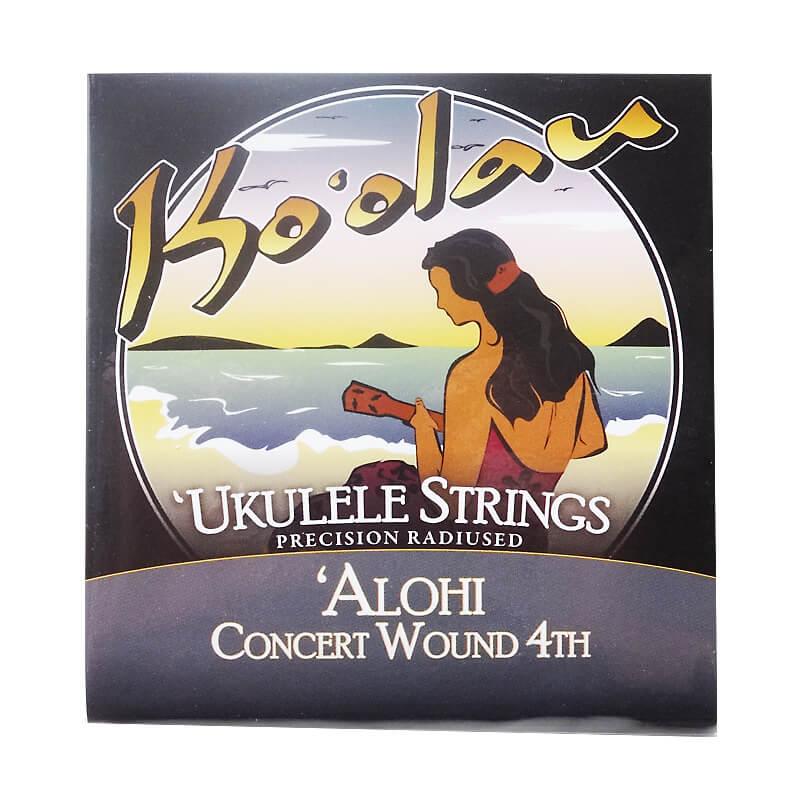 【KO'OLAU STRINGS】ALOHI CONCERT WOUND 4TH コンサート用ウクレレ弦