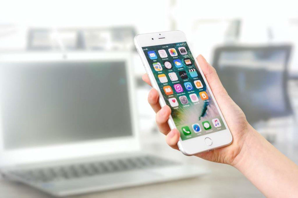 iPhoneのアプリ画面